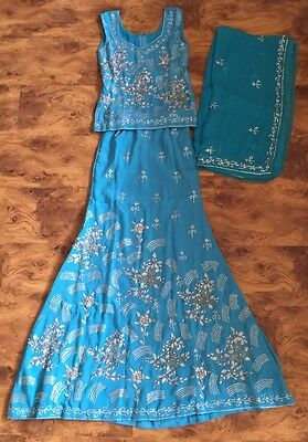 Womens Ladies Designer Indian Asian Suits Eid Shalwar Suits Fishtail Clothing