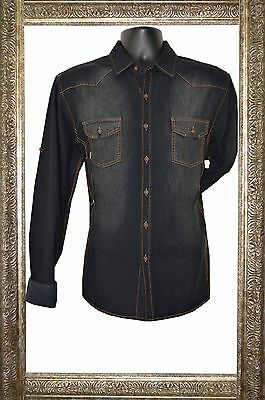 New Mens Caviar Dremes Long Sleeve Button Down Casual Shirt Jean Black Brown