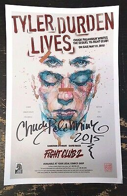 Fight Club 2 Promotional Poster SIGNED Autographed by Chuck Palahniuk!!! 2015