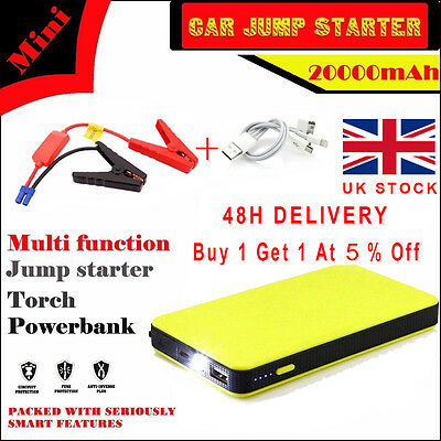 12V 20000mAh Car Jump Starter Pack Booster Charger Battery Power Bank FSS