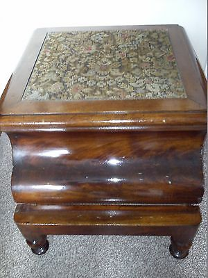 Antique Mahogany Victorian COMMODE with step