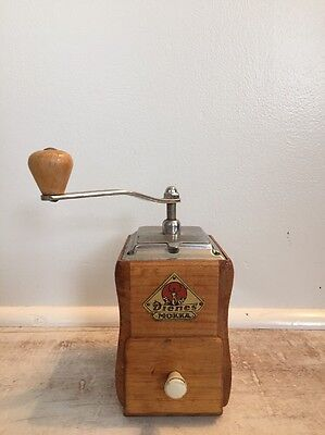 Vintage German Wooden Dienes Mokka Coffee Grinder