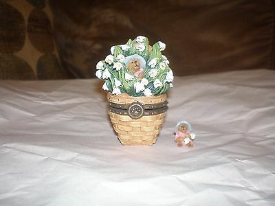 Longaberger Boyd's Bear Exclusive Treasure Box - May Series Lily of the Valley