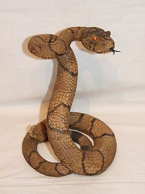 Ornamental Figurine American Rattle Snake, Collectable