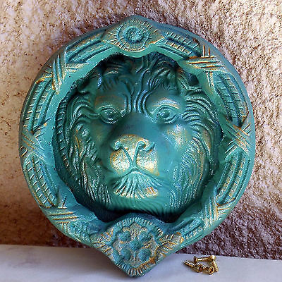 Large Lion Head Cast Iron Door Knocker