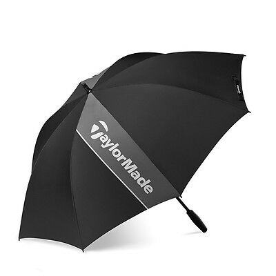 NEW TaylorMade Single Canopy Golf Umbrella Black / Grey / White 60""
