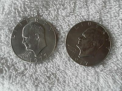 Eisenhower Dollars 1977 P & 1977 D - Two Coin Set