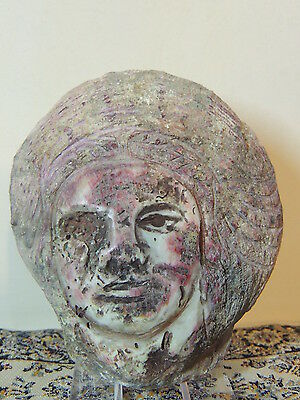 Antique Persian Carved Shell,prince Face