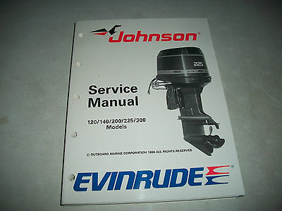 1989 Evinrude/johnson Outboards 120 140 200 225 300 Models Service Manual Clean