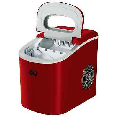 Ice Maker 26 lb. Freestanding, IGLOO Red Portable Machine Counter Top Appliance