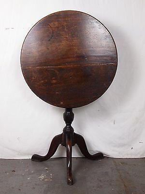 An Antique Georgian Solid Mahogany Tilt Top Occasional Table ~Can Deliver~