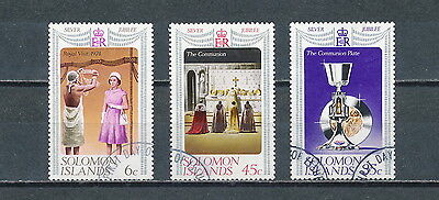 Solomon Islands #345-7 used, 1977 Queen Elizabeth Jubilee