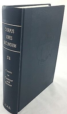 Corpus Juris Secundum 1990 Law Book Volume 21 Courts To Creditor And Debtor