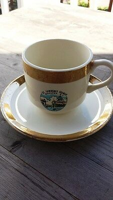 Vintage St. Lawrence Seaway Coffee Cup and Saucer – Massena New York