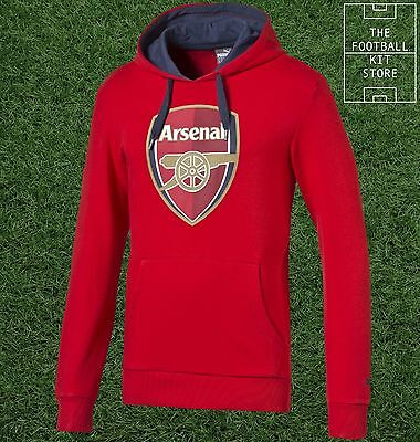 Arsenal FC Hoody - Official Puma Boys Football Hooded Sweat Top - All Sizes