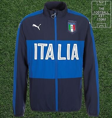 Italy Track Jacket - Official Puma Boys Football Training Wear - All Sizes