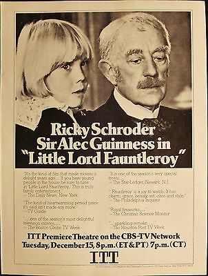 Ricky Schroder & Alec Guinness - Itt - Little Lord Fauntleroy - Vintage 1981 Ad