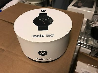 NEW Motorola Moto 360 46mm SmartWatch for Android 4.3 or Higher, Black Leather