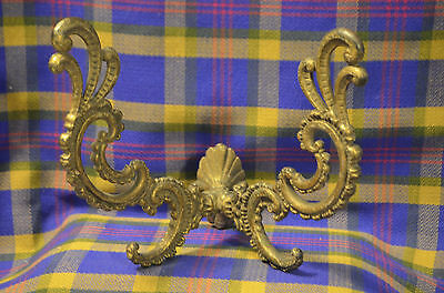 Vintage Large Double Fixed Arms Coat/Wardrobe/Hat/Scarf Rack Iron Bronze Finish