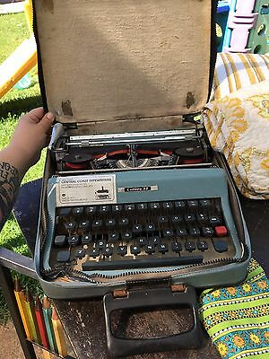 vintage retro type writer in case letters 32