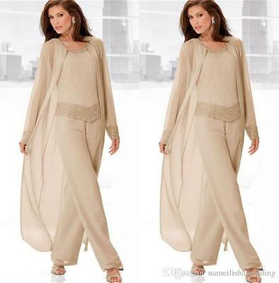 Custom Long Mother of the Bride Pants Suit Party/Formal/Evening Suits Plus Size