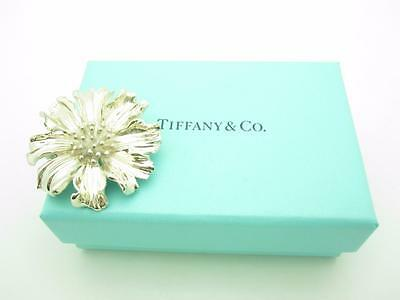 Tiffany & Co. Sterling Silver Large Marigold Flower Pin Brooch