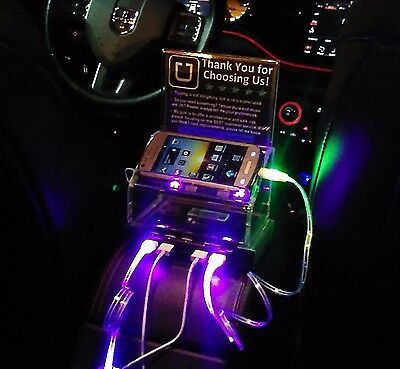 Uber Lyft Tip Box 5 USB port Rapid Charging Station +4 cables 4 Rideshare Driver