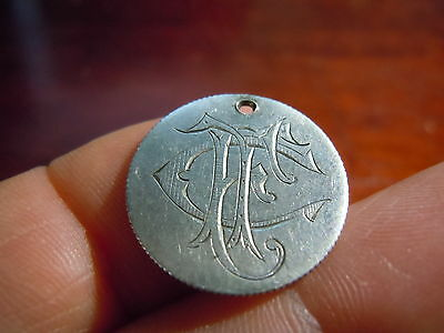 1883 Seated Liberty Dime Engraved Love Token Charm #15A