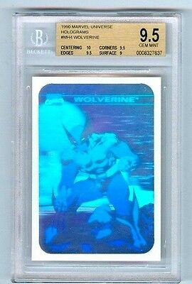Bgs 9.5 1990 Marvel Universe Holograms #mh4 Wolverine Rare W/10 Sub Impel
