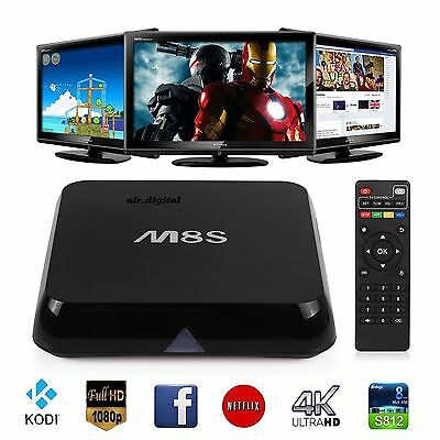 M8S Android Smart 4K Box TV Quad Core KODI (XBMC) 2GB+8GB GB WI-FI