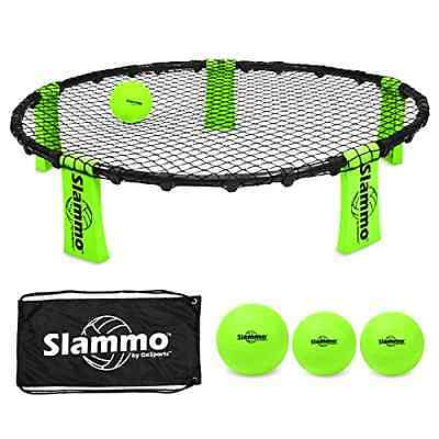 Slammo Game Set GoSports 2 On 2 Volleyball Style Game 3 Balls With Carrying Case