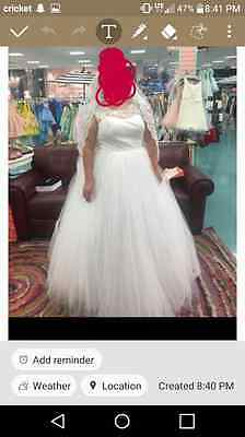 3xl wedding dress ad veil