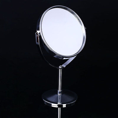 Femmes Maquillage Rond mode Double-Face Normal Magnifiant Pied Miroir
