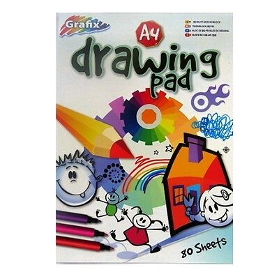 A4 Plain Drawing Pad - 80 Sheets = 160 Pages - Padded - Size 297mm x 210mm
