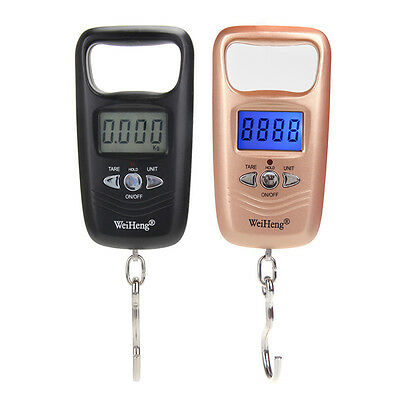 Portable LCD Electronic Hanging Fish Luggage Digital Hook Weight Scale 50kg New