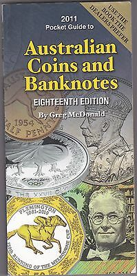 The Pocketbook Guide for Australian Coins & Banknotes Greg McDonald 18th Edition