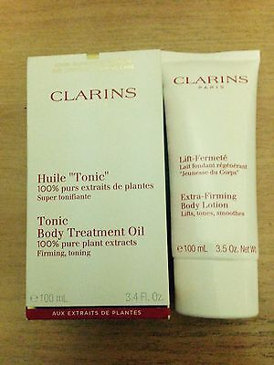 Clarins Tonic Body Treatment Oil set - new - value $105