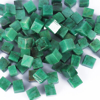 500.00 Cts UNCUT UNPOLISHED EARTHMINED NATURAL EMERALD GEMSTONES ROUGH CUBES LOT