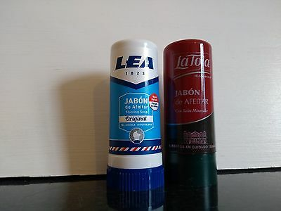 2 Spanish shaving soap sticks Lea 50gr and La Toja 50gr  UK stock