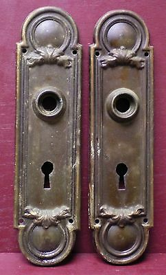 Antique Fancy Brass Door Knob Back Plates #2