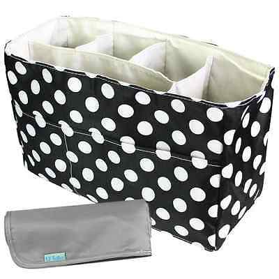 KF Baby Diaper Bag Insert Organizer (12 x 4.8 x 8 inch, Black) + Diaper Changing