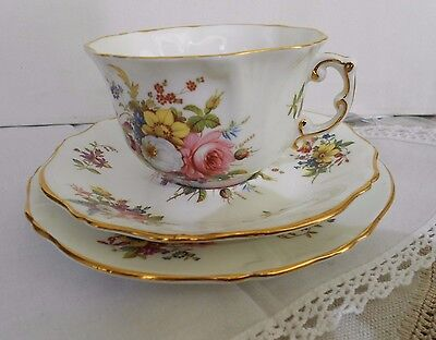 HAMMERSLEY member of SPODE GROUP TRIO Cup Saucer and Plate Excellent 1972