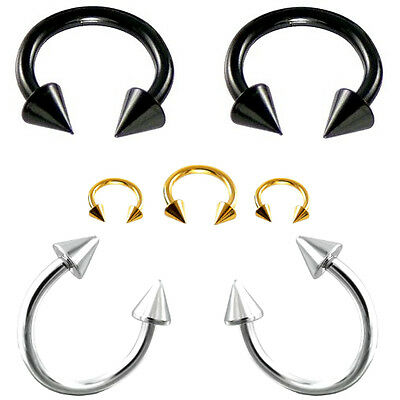 2er Set Circular Barbell Hufeisen Septum Horseshoe Lippenpiercing Nasenpiercing