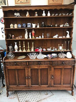 Grand Oak Welsh Dresser 1930's Great Example