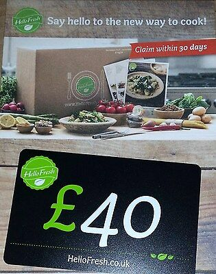 "£40 ""HELLO FRESH"" grocery food voucher card"