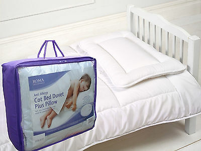 Anti-Allergy Duvet Quilt For Junior, Toddler Childrens Cot Bed Cot Pillow