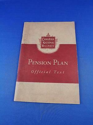 Canadian National Railways Cn  Employee Pension Plan Book Rules Regulations 1952