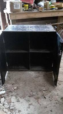 VINTAGE STEEL CABINET / SAFE BOX, by JOHN TANN Ltd.