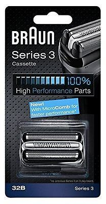New Braun Series 3 Electric Shaver Replacement Foil Cartridge, 32B - Black