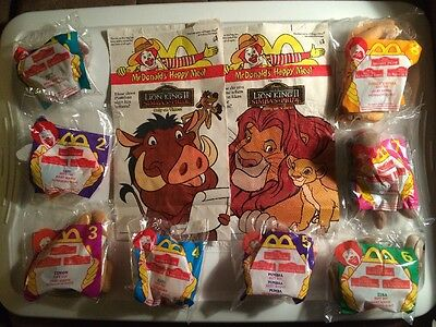 McDonald's 1998 Happy Meal Lion King II Set Of 8 With Bags MIP